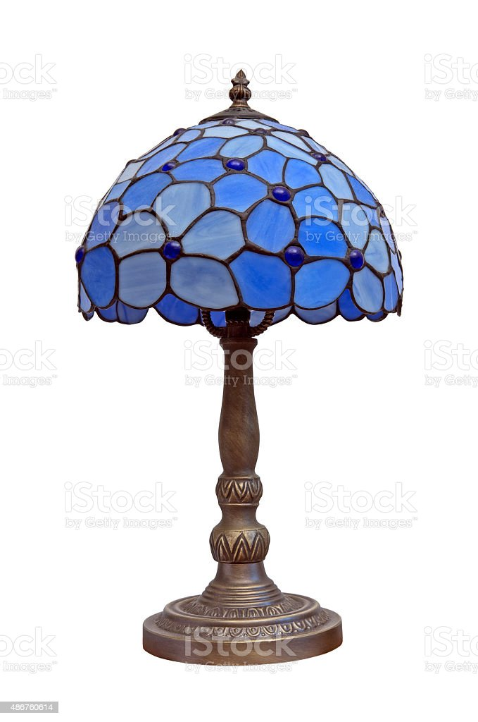Blue lamp stock photo