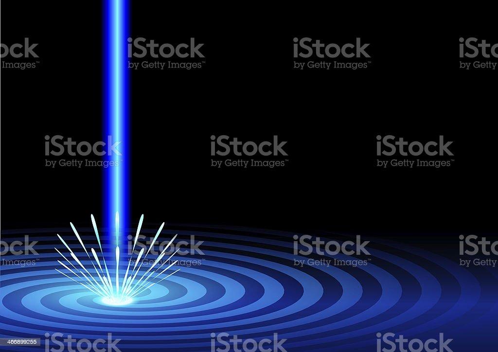blue laser stock photo