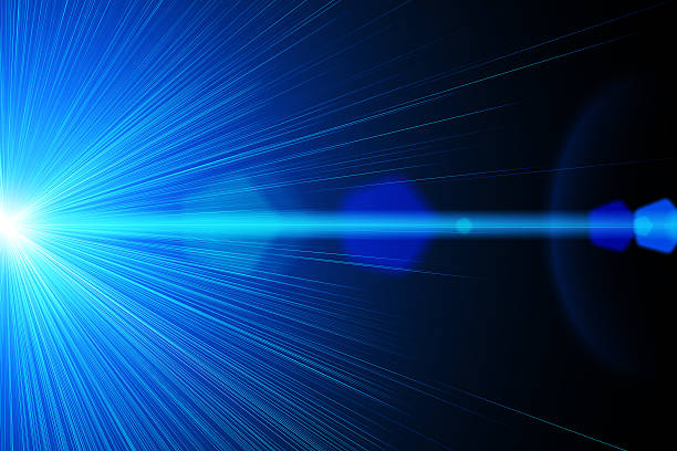 Blue laser ray stock photo