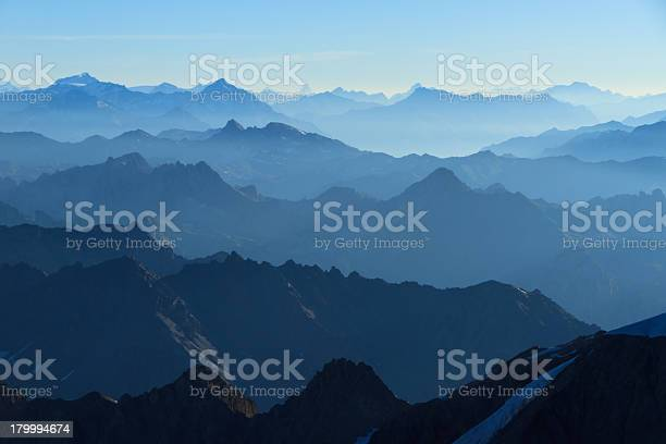 Photo of Blue layers of mountains