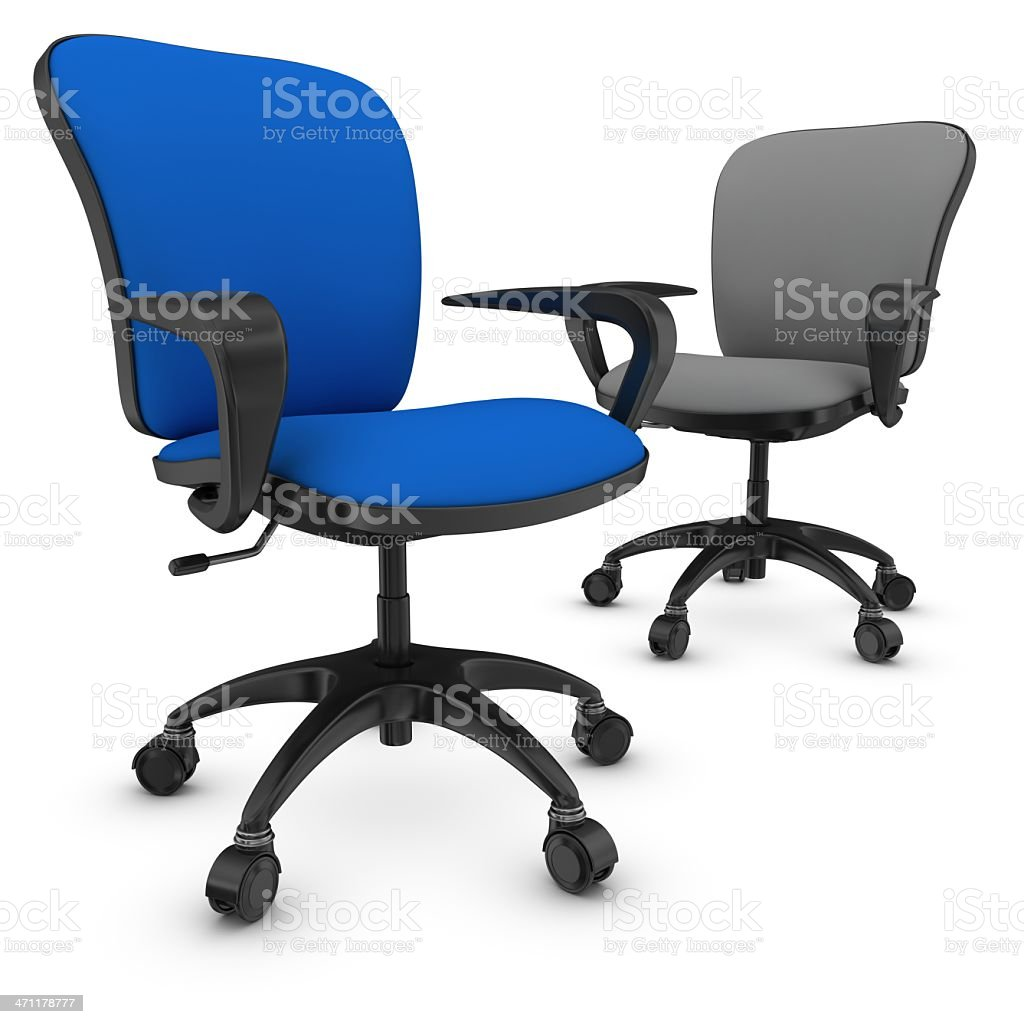 blue leader office chair royalty-free stock photo