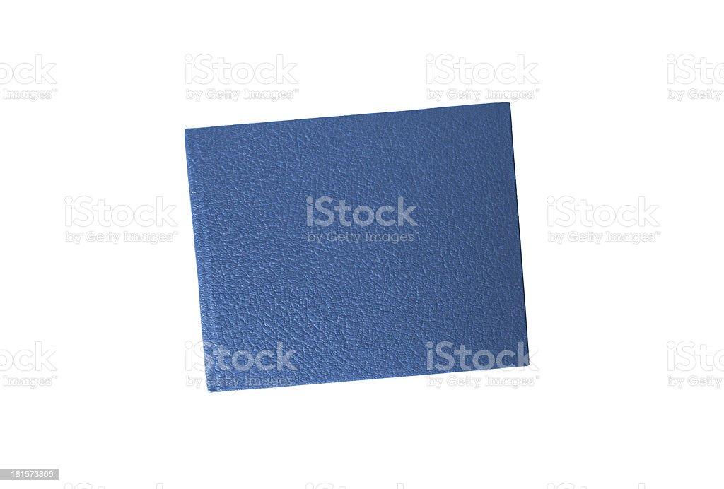 blue leather case notebook isolated on white royalty-free stock photo