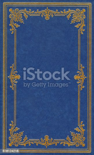 istock Blue leather cover 518124216