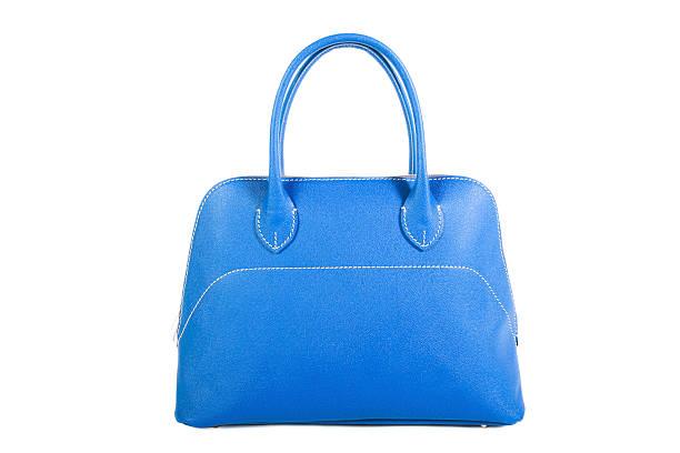 Blue Leather Handbag stock photo