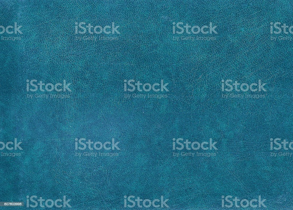 Blue leather surface. stock photo