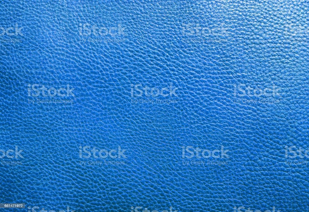 Blue leather texture background stock photo