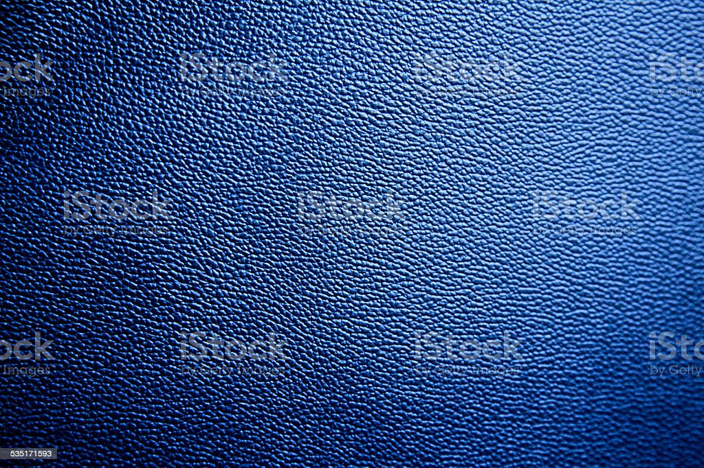 Blue Leather Texture Cool Pattern Dyed Blue Background New Fabric stock photo