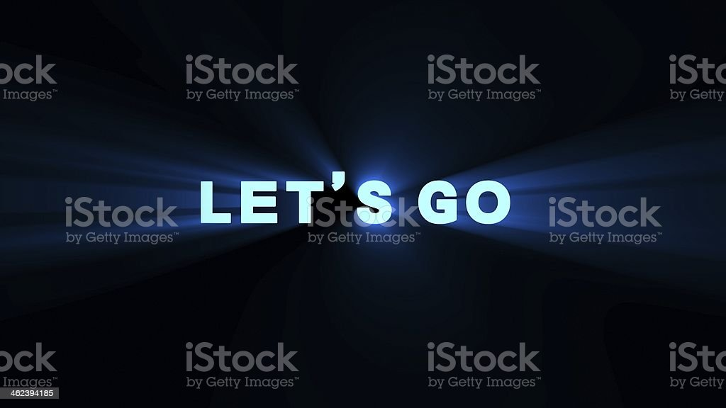 blue lets go flare royalty-free stock photo