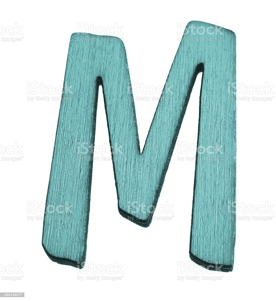 Blue Letter M royalty-free stock photo