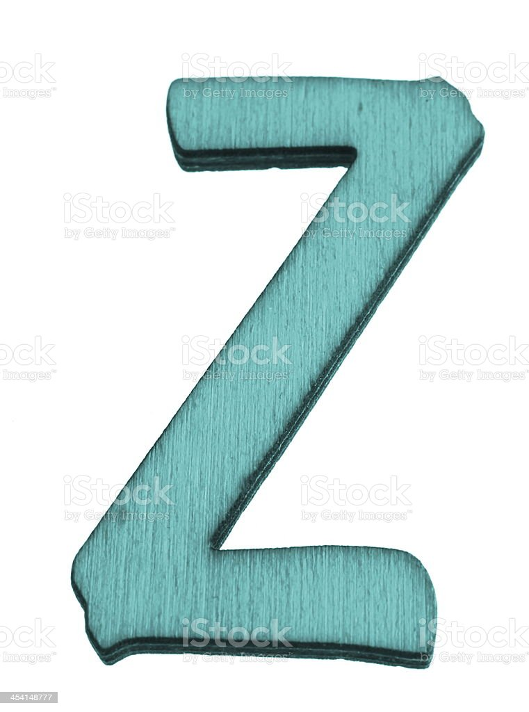Blue Letter Z royalty-free stock photo