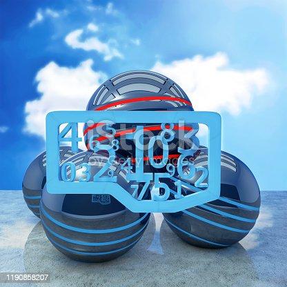 176074170 istock photo Blue letters creativ concept - 3d rendered illustration 1190858207