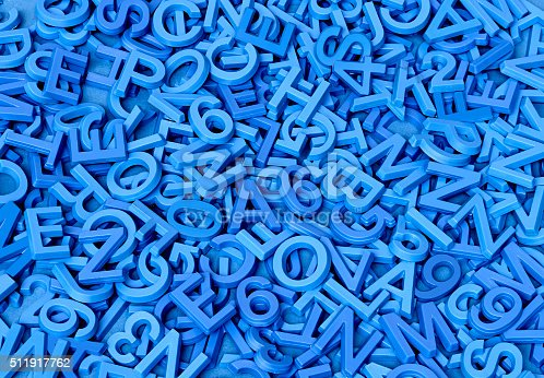 istock Blue Letters on Blue 511917762