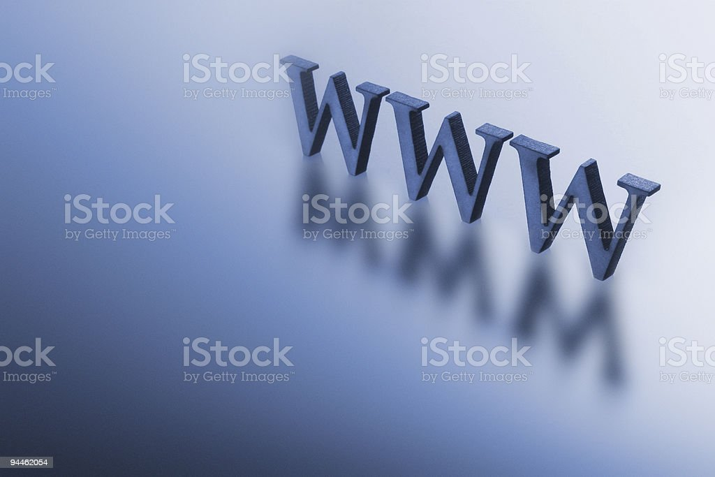 Blue letters www royalty-free stock photo