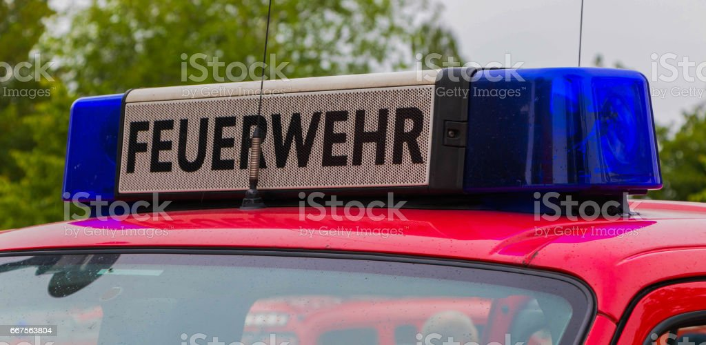 Blue light bar and horn on a german fire truck feuerwehr fire blue light bar and horn on a german fire truck feuerwehr fire department royalty aloadofball Choice Image