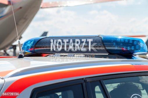 istock blue light bar on a german emergency car 544726134