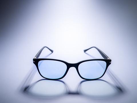 Blue light blocking glasses. Black frame glasses for filtering blue light from the computer. Prevent Computer Vision Syndrome. Eye protection
