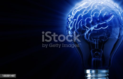 istock Blue Light Bulb Brain 155391487
