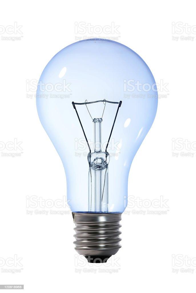 blue light bulb royalty-free stock photo