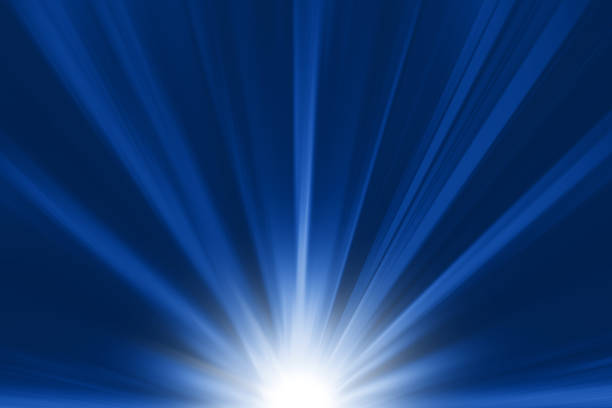 blaue helle fackel hight power buttom wirkung - strahlung stock-fotos und bilder