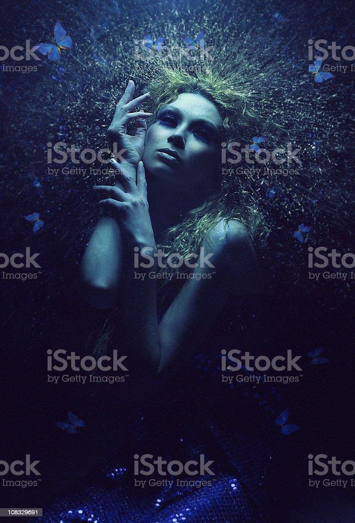 Luz azul - foto de acervo