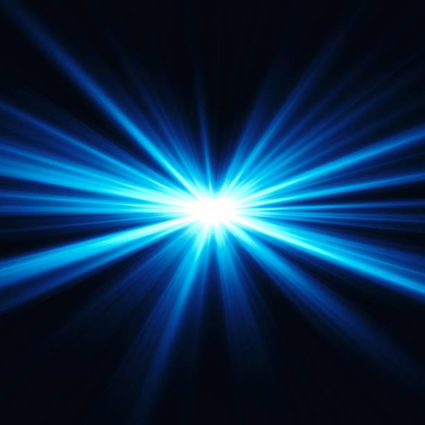 Luce blu - foto stock