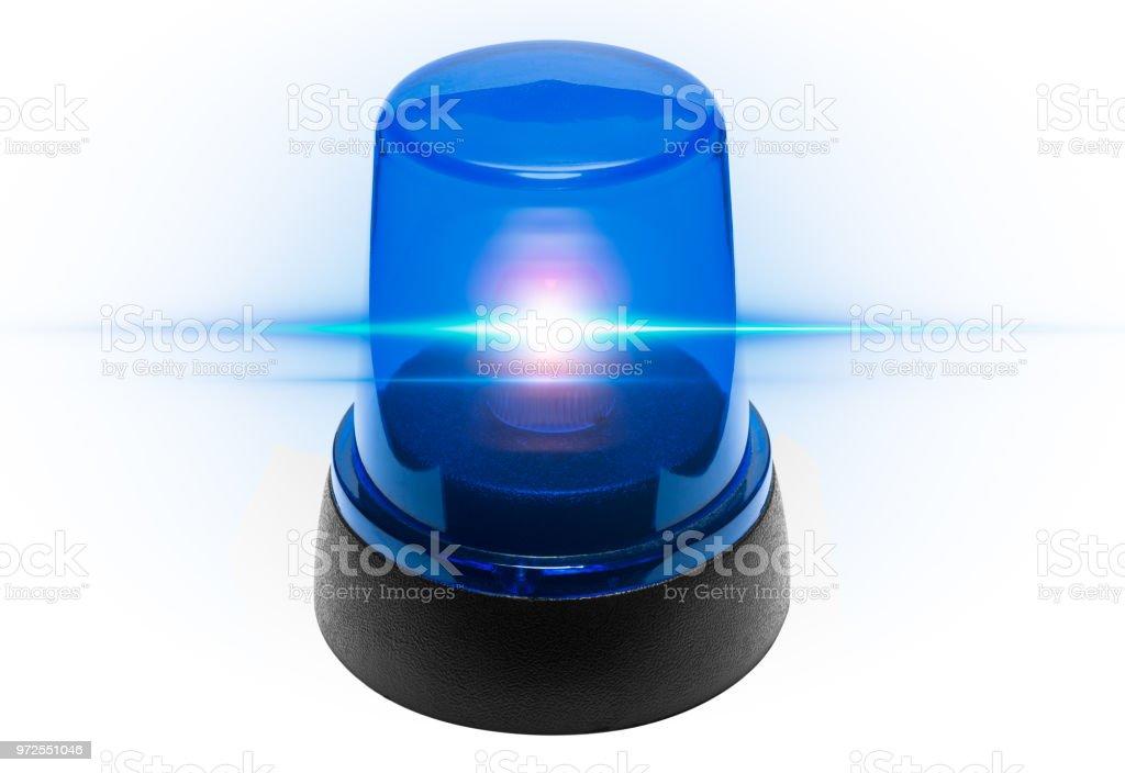 Blue light police stock photo
