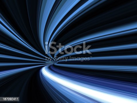 673622922istockphoto Blue light trails in tunnel 187092411
