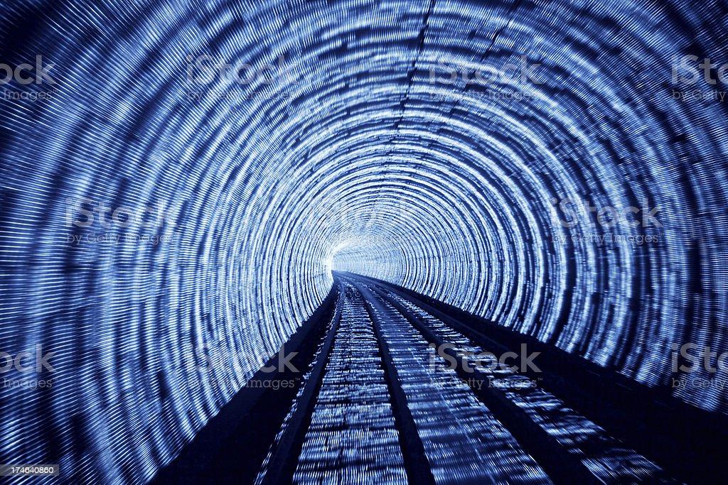 blue light tunnel royalty-free stock photo