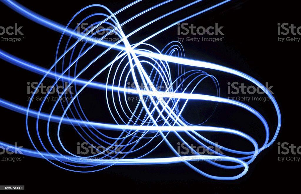 Blue light waves stock photo