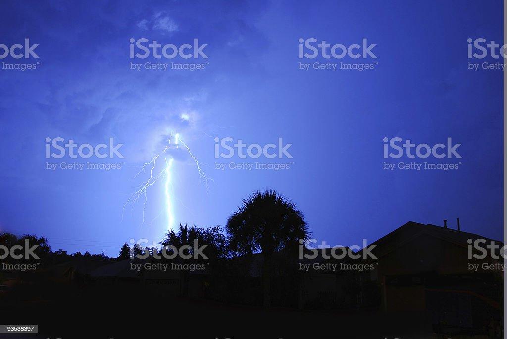 Blue Lightning 3 stock photo