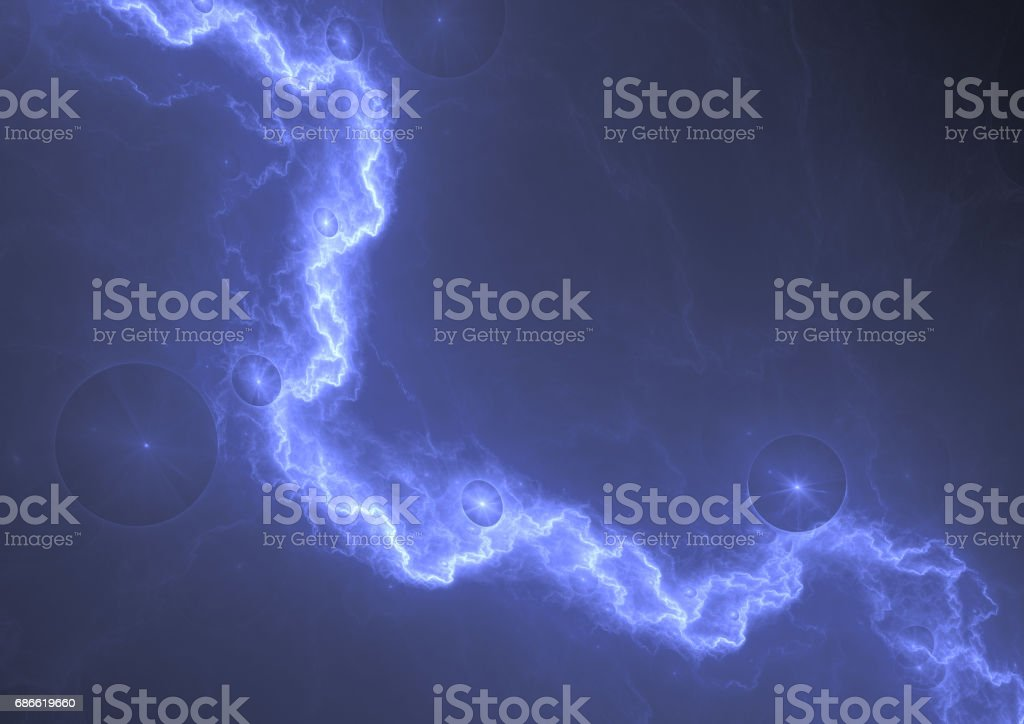 Blue lightning, abstract electric background royalty-free stock photo