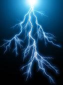 istock Blue lightning arc electric discharge 972721812