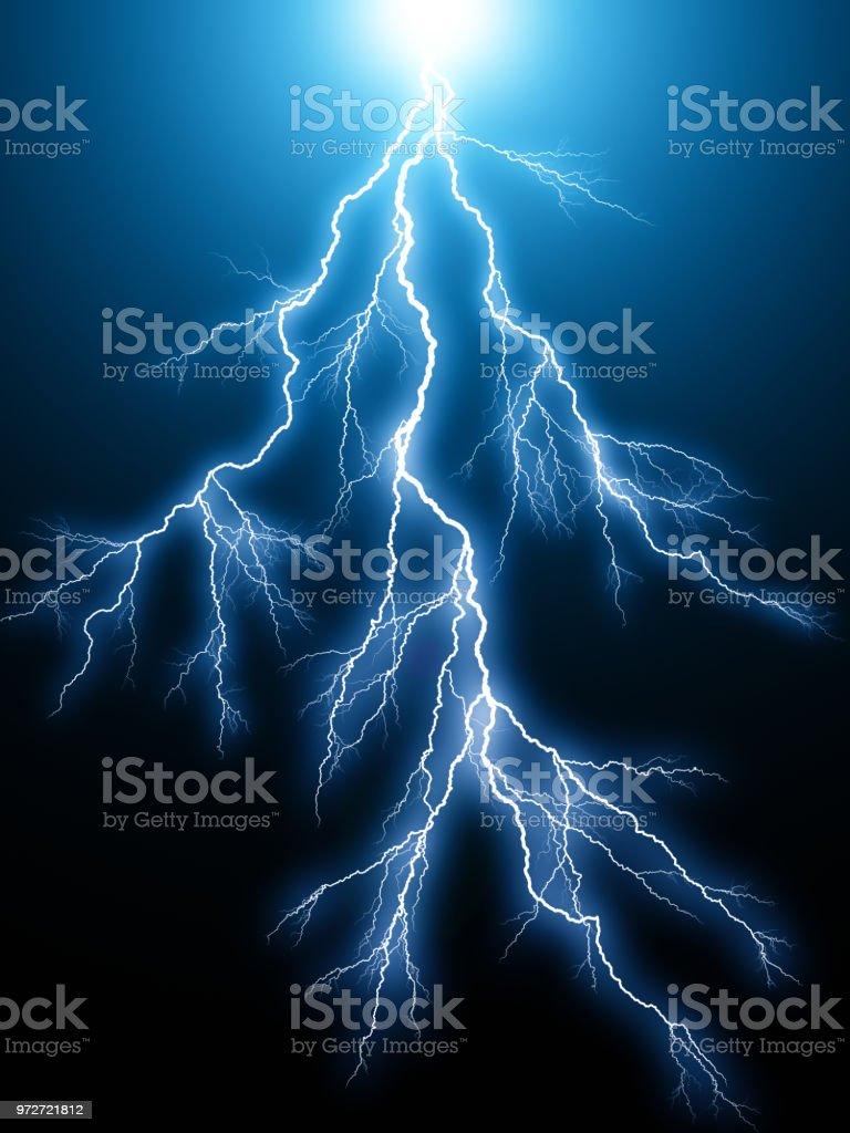 Blue Lightnings elektrische Bogenentladung – Foto