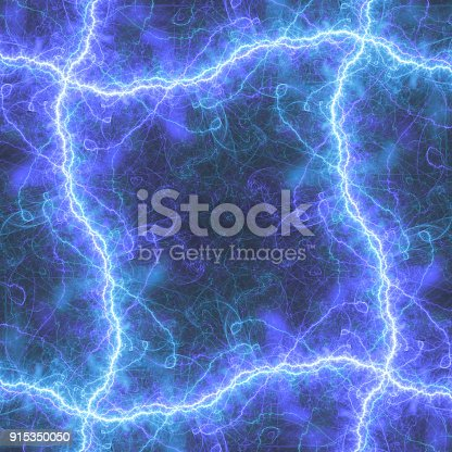 1149518720 istock photo Blue lightning frame with copy space 915350050