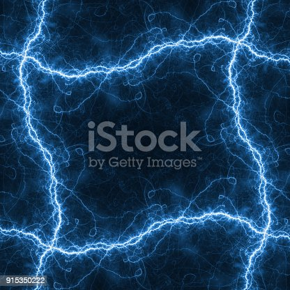 1149518720 istock photo Blue lightning frame with copy space 915350222