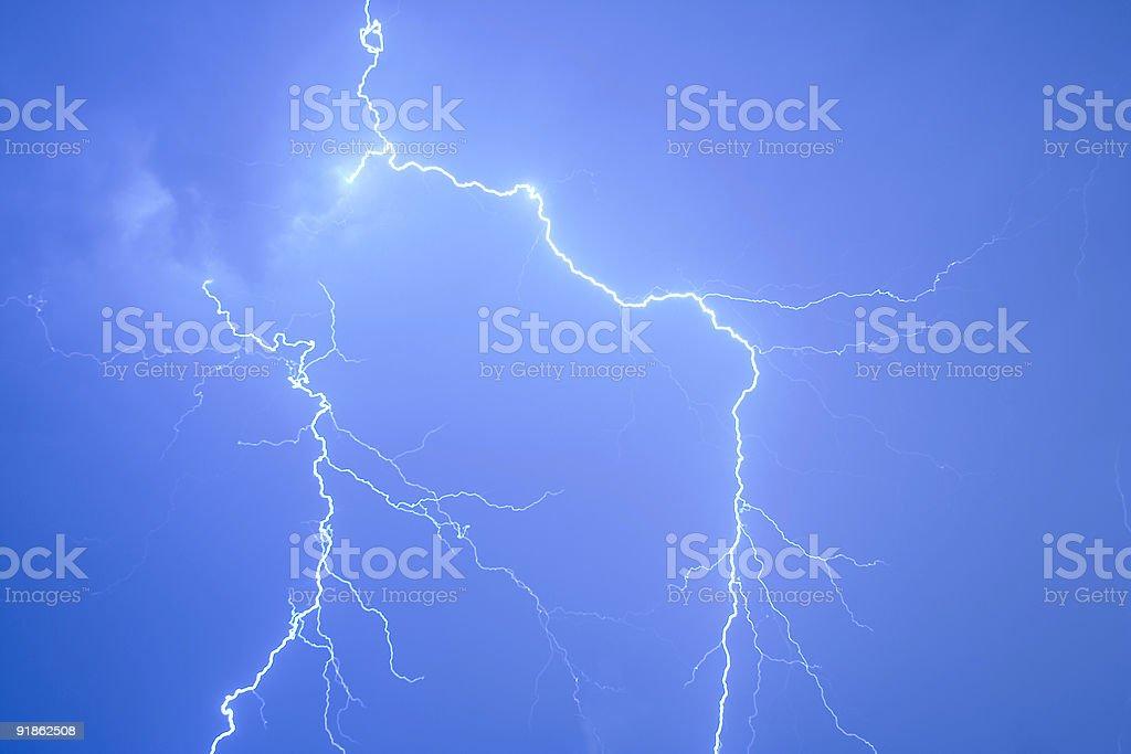 Blue Lightning royalty-free stock photo