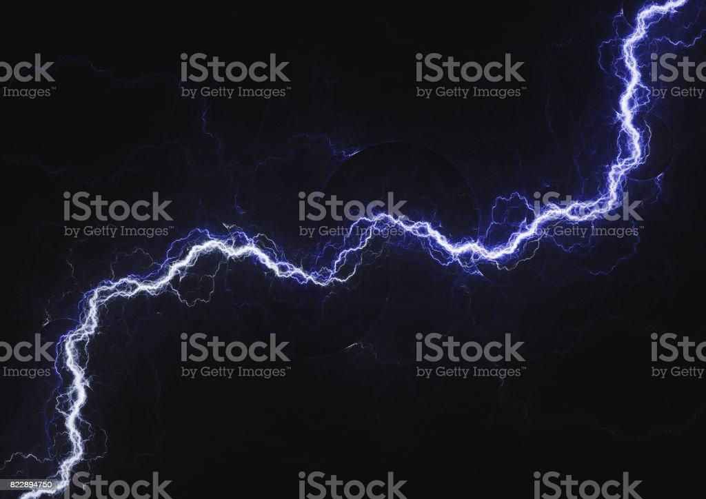 Rayo azul, el fondo eléctrico de plasma - foto de stock