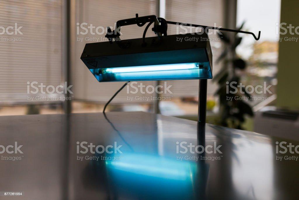 Blue lights stock photo