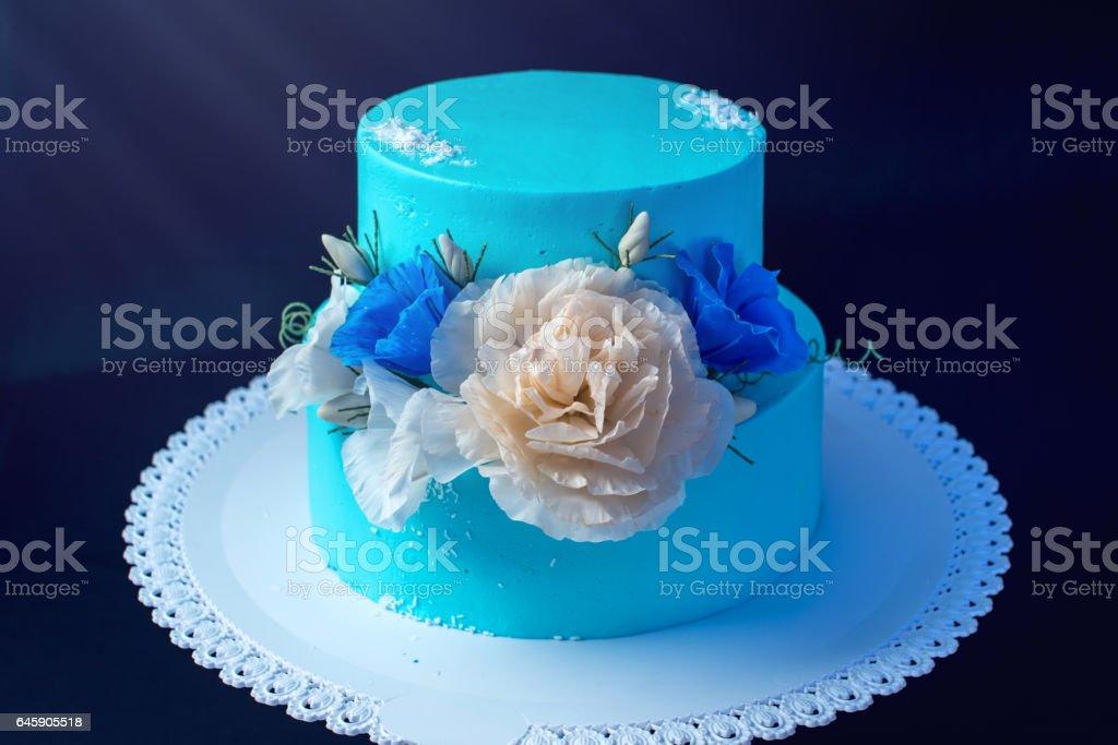 Photo Libre De Droit De Bleu Comme La Glace Un Gâteau De