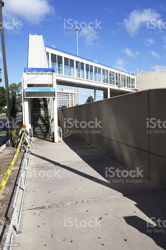 Blue Line Station at OHare, Chicago royalty-free stock photo