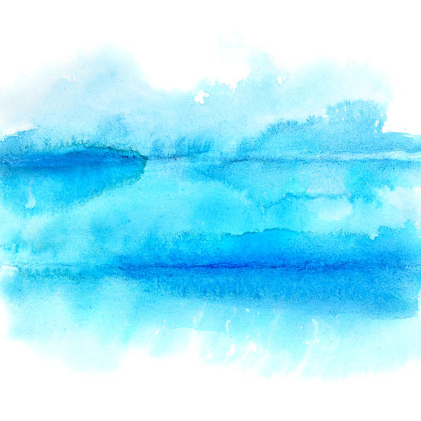 Blue lines - abstract stock photo