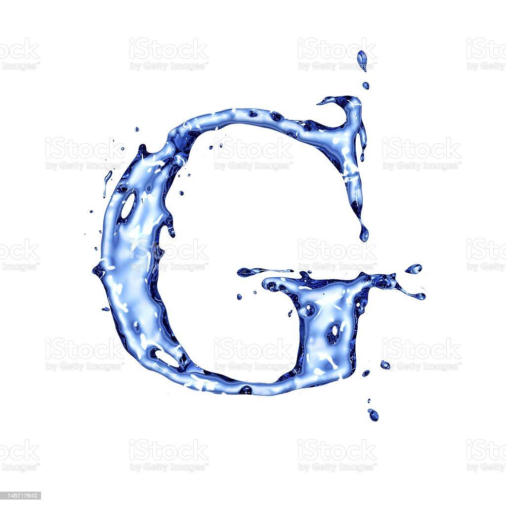 Blue liquid water letter g stock photo more pictures of alphabet blue liquid water letter g royalty free stock photo altavistaventures Gallery