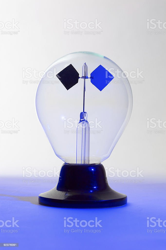 Blue lit solar spinner royalty-free stock photo