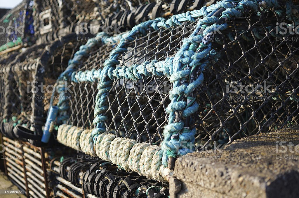 Blue Lobster Pot royalty-free stock photo