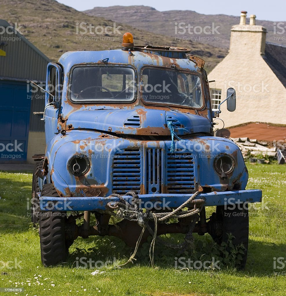 Blue Lorry stock photo