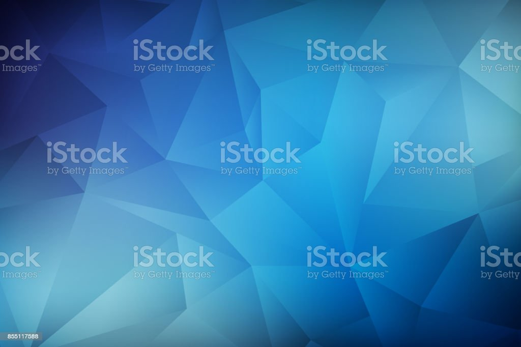 blue low poly background stock photo