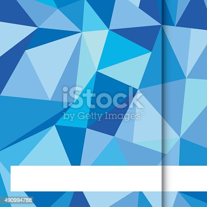 652750408istockphoto Blue Low poly with white strip Background 490994788