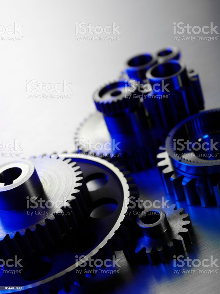 Blue Machine Connection royalty-free stock photo