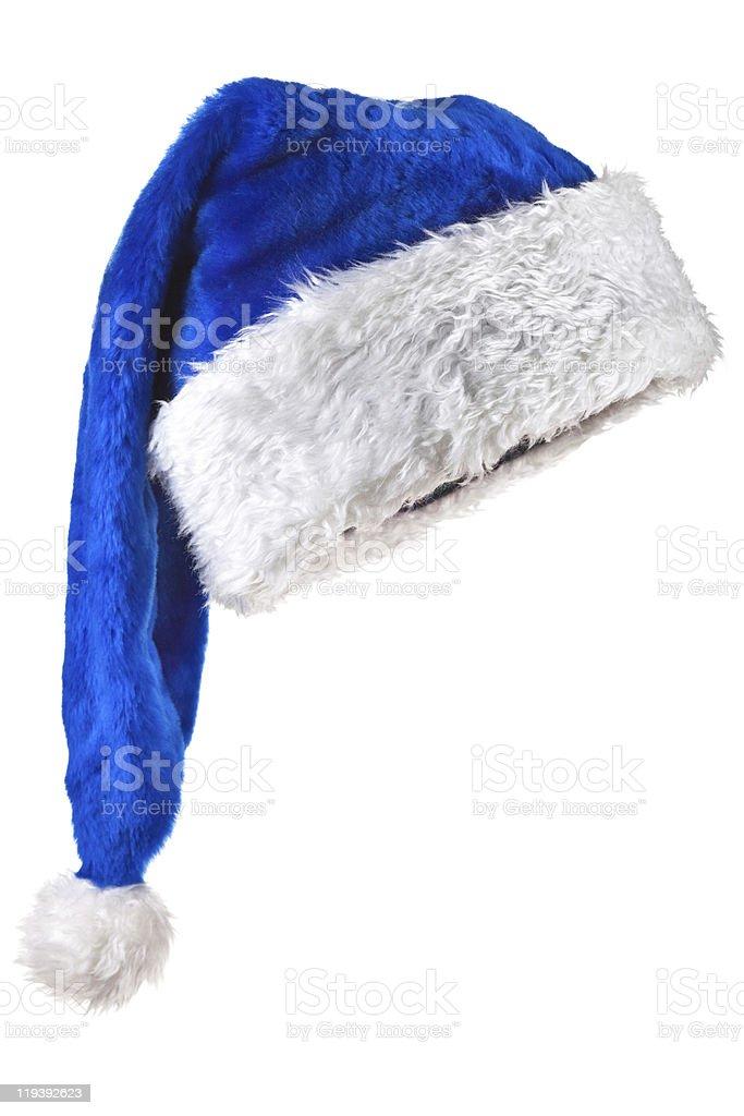 Blue Magic Santa Hat stock photo