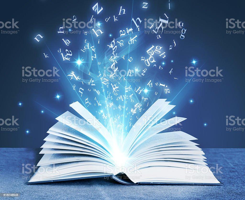 blue magical book – Foto